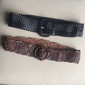 Hollister brown leather belt XS/S, Free Black belt